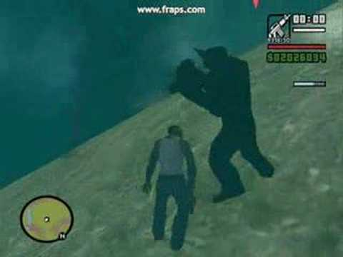 GTA San Andreas Bigfoot + UFO