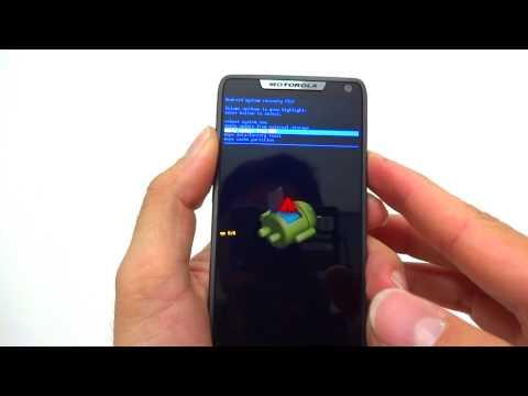 Hard Reset Motorola Razr i XT890   Como Formatar. Desbloquear. Travado