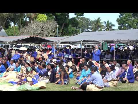 President Rev. Dr. Liufau Saulala   Tokaikolo Church Gift   Tupou College Toloa Sesquicentenary