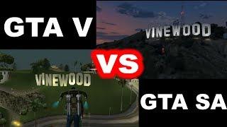 GTA V vs. GTA San Andreas - Comparison / Porównanie