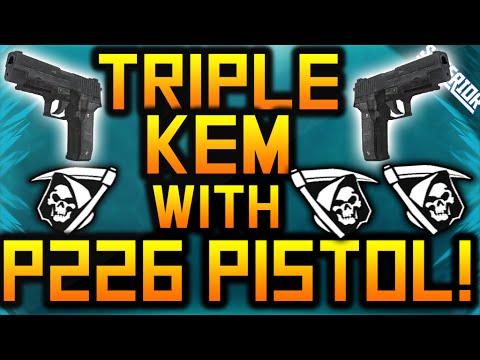 Ghost: triple P226 Kem Strike! W  131 Kills! - Pistol Kem! video