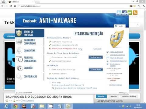 Teste de taxa de detecção - Emsisoft Anti-Malware 7 Beta