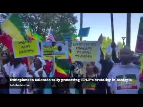 Ethiopians In Colorado Rally Protesting TPLF's Brutality In Ethiopia