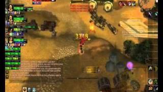 wow Limit 80 lvl warrior deffender fun part1 3.3.5