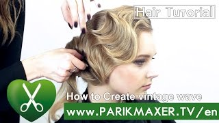How to Create vintage wave parikmaxer TV USA