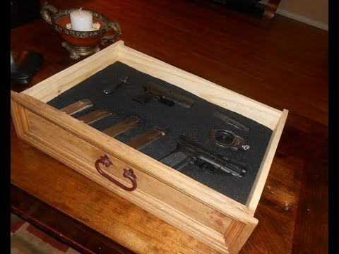 DIY. Nightstand with Secret Compartment for Gun Storage Pt.1 Tools. Materials and Layout