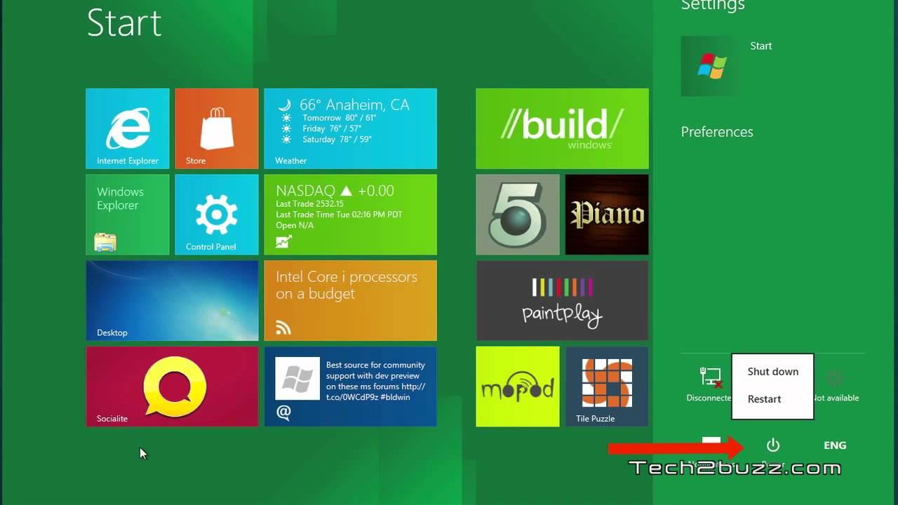 Windows 8 Tip How to shutdown or restart Windows 8 - YouTube