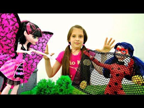 МАРИНЕТТ в зАмке ДРАКУЛАУРЫ! Куклы #ЛедиБаг и Монстер Хай Новые видео / Мультики и Игры для Детей