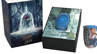 "Special Effects MagicBand2, (Beauty and the Beast Movie Live-Action) Belle Dress/Rose "" English """