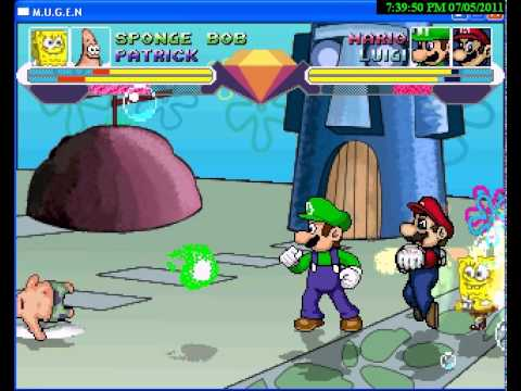 Spongebob And Patrick Vs Mario And Luigi video