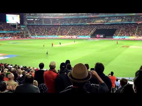 Cricket World Cup Semi Final - New Zealand Blackcaps vs South Africa. The winning runs!