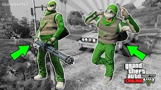 GTA 5 Online - Outfit Tutorial! Green Gun Running! Best Tryhard Modded Clothing! (GTA 5 Glitches)