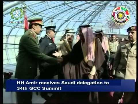 His Highness the Amir receives Saudi delegation attending 34th GCC Summit in Kuwait