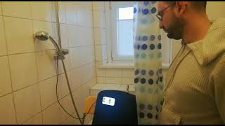 Smart Shower Works by Voice Commands ( Alexa , Okay Google) and Touch Screen