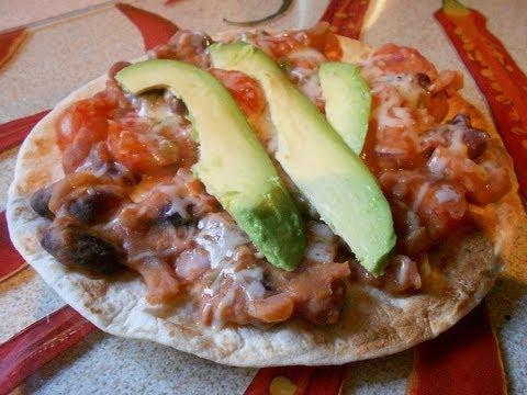 Quick Vegetarian Chilli Tostadas Avocado & Bean