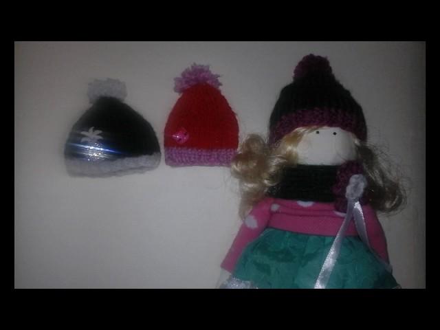 Шапочка для куклы/Вязание спицами (Мастер-Класс)