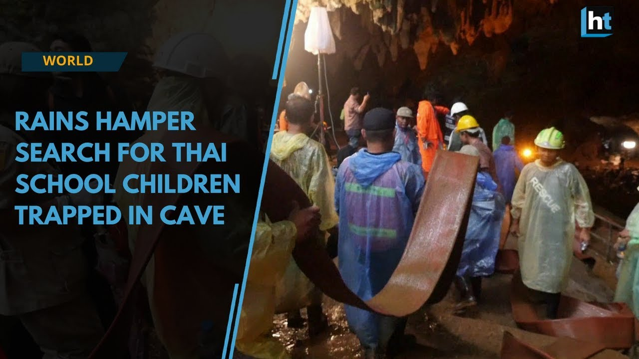 Watch: Rains hamper search for Thai school children trapped in cave