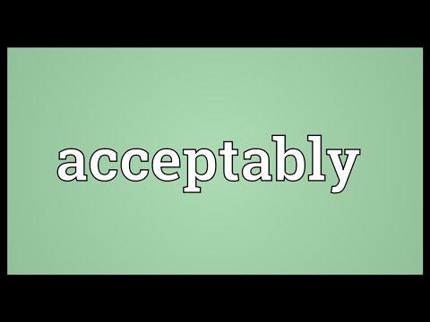 Header of Acceptably