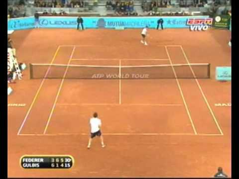 MS 1000 Madrid: Roger Federer vs Ernest Gulbis. Last Game Of the match