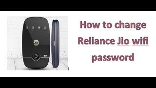 How to change Reliance Jio wifi password