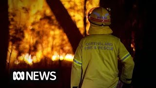 "Homes lost in Stanthorpe as surrounding hills ""glow red"" from bushfires 