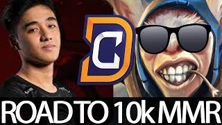 Abed Meepo New Team DC - Back to Ranked Dota 2   Road to 10k MMR