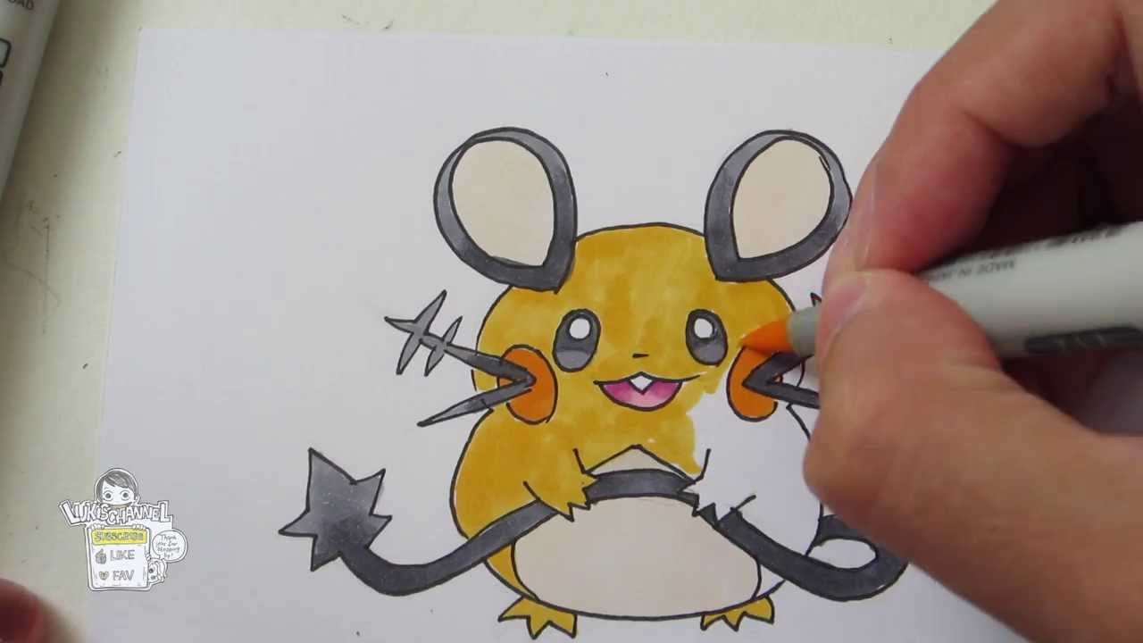 Tutorial How To Draw Dedenne From Pokemon X Y デデンネ