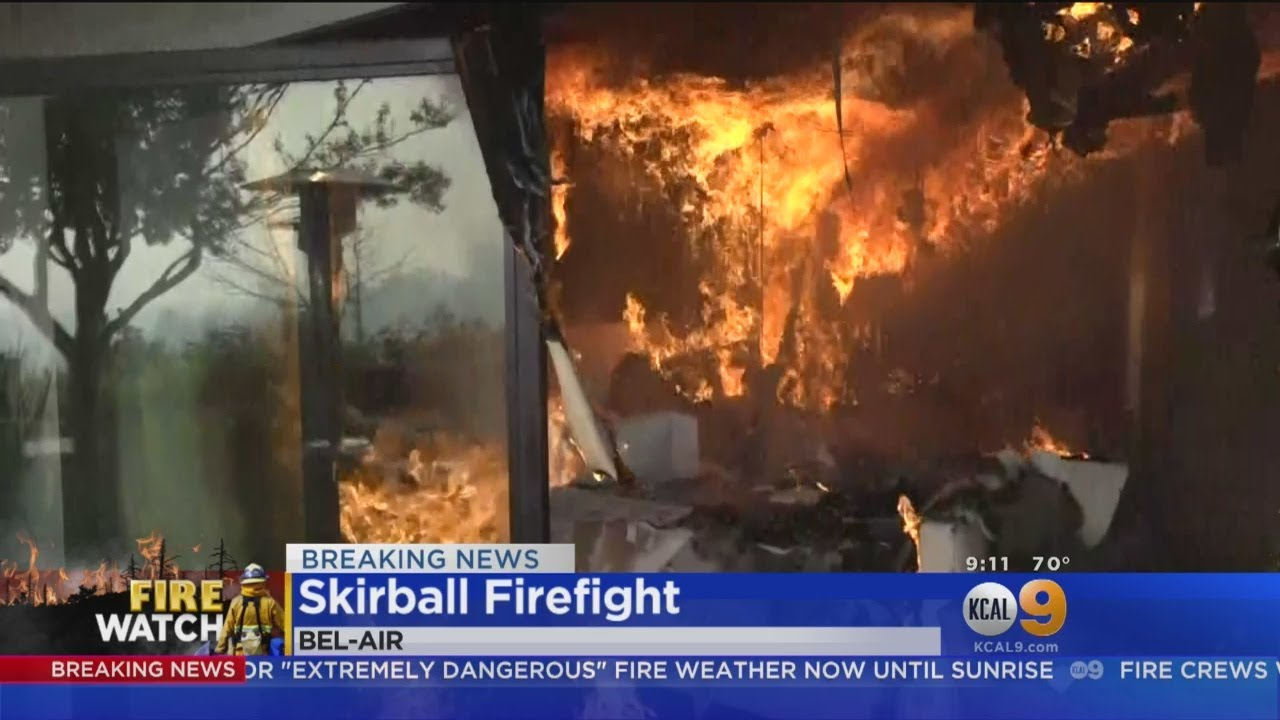 Evening High Winds Stoke Hot Spots In Skirball Fire
