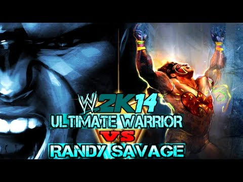 WWE 2K14 Ultimate Warrior vs Randy Savage (Gameplay)