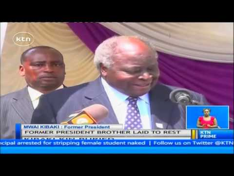 Former President Mwai Kibaki's brother Benard Nderitu Kibaki burried in Othaya