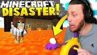 Minecraft: NATURAL DISASTERS!! (Pie Face Challenge) - Mini-game