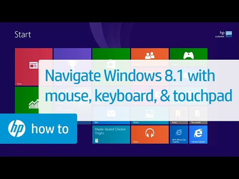 Navigating Windows 8 with Mouse, Keyboard, and Touchpad for HP Computers
