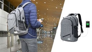 KOOLERTRON Travel Laptop Backpack w/ USB Charging Review