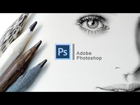 Fake pencil portrait effect - Ritratto a matita - #24 Photoshop tutorial ...