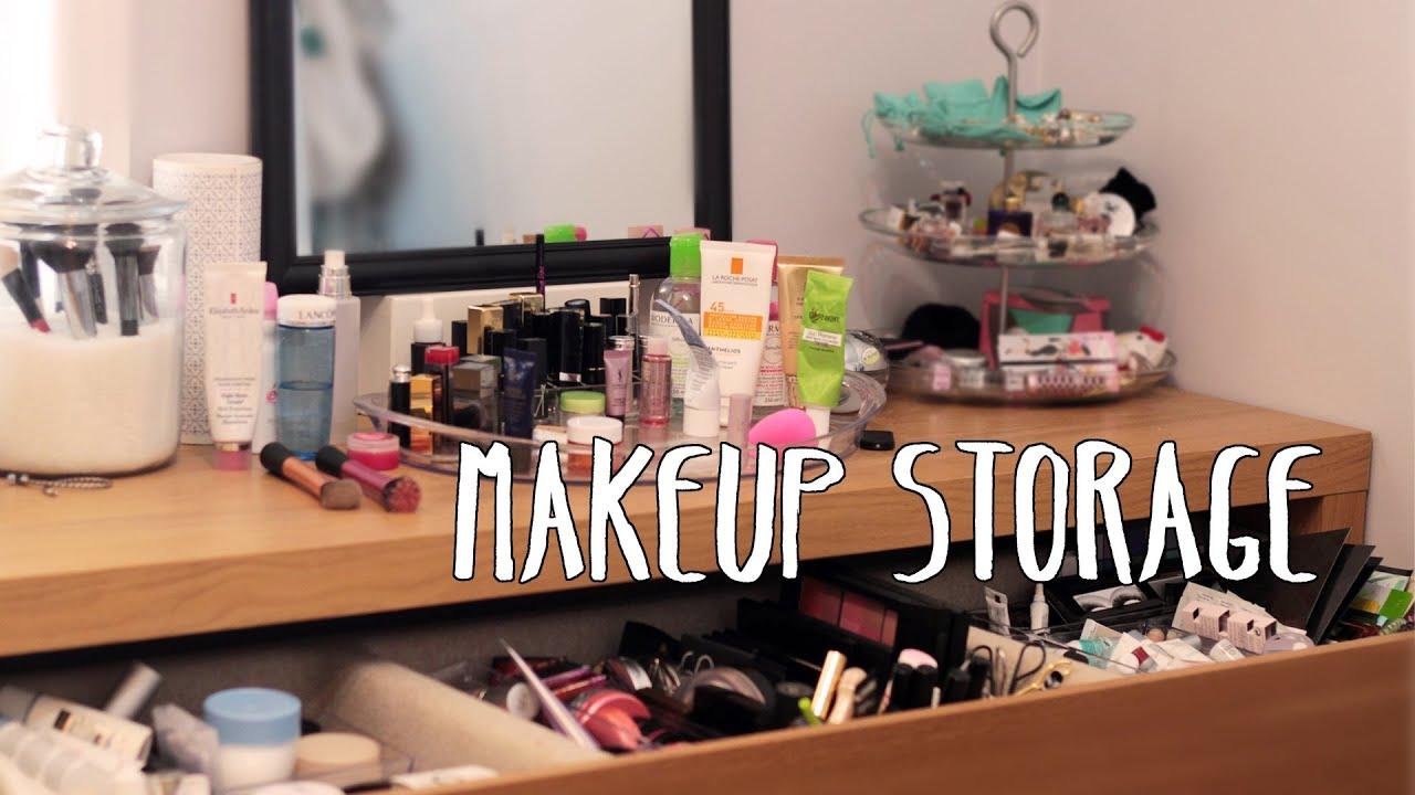 Makeup Storage Amp Organization Jan 2013 Youtube