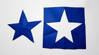 Estrella de 5 picos Origami (Mejorada) - ChispiKids - Manualidades