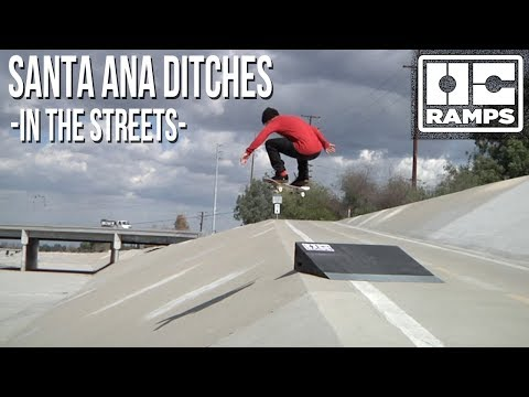 Skateboarding the Santa Ana riverbed and ditches