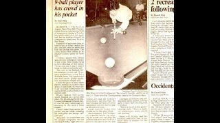 The best 9 ball player of All-time!  Ron Rosas spanks World 9-ball Champ Buddy Hall in 1992 13 to 3