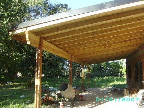 Como hacer un techo de chapa de una solo caida