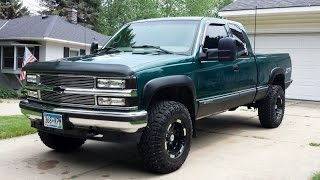 LIFTED 1998 Chevy Silverado **Truck Update** New Rims, Tires, and Lift Kit