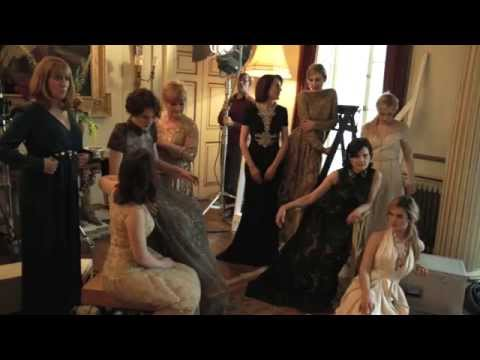 Behind the scenes: Downton Abbey cover shoot for Harper's Bazaar August 2014