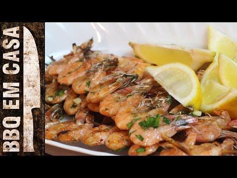 RECEITA DE ESPETINHO DE CAMARÃO (shrimp kebabs)