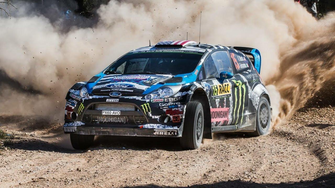 Ford Fiesta Wrc 2018 >> Ken Block test Ford Fiesta WRC on gravel - YouTube