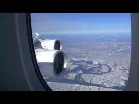 Emirates A380     /   New York JFK to Dubai  /    Part 2 of 5 (HD Video)