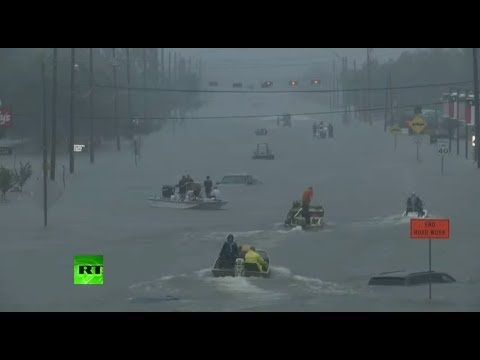 LIVE: Flood rescue operations in Dickinson and Houston, Texas
