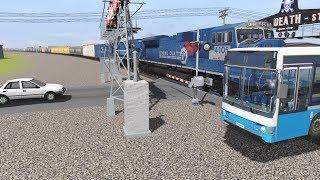 Trainz Railfanning Pt 211: CSX, NS, Amtrak, Billups Neon Crossing Sign