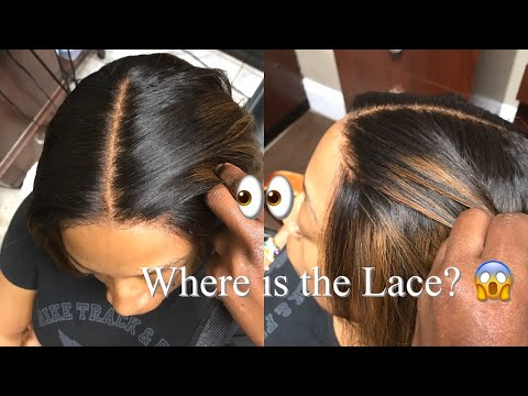 High ponytail and Lace closure Sew-in Weaves by Glam Suite Salon!
