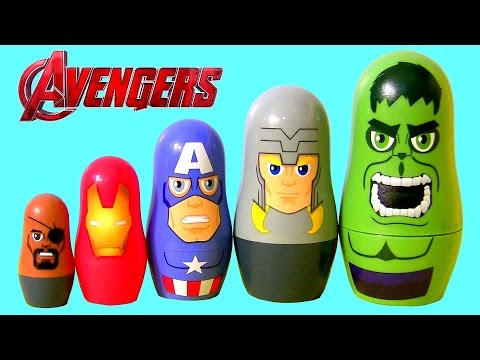 Marvel the Avengers Stacking Cups Disney Nesting Toys Surprise Hulk, Nick Fury, Iron Man