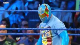 Sin Cara Attacks Chavo Guerrero - WWE SmackDown 5/20/11