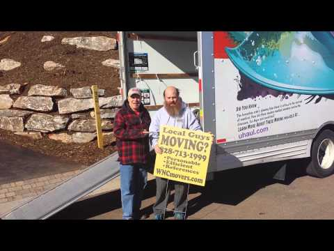 Asheville moving company in Black Mountain NC Working for Edward & Sheri Nasca